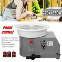 220 V 350 W Électrique Poterie Roue En Céramique Machine 300mm argile céramique Potter Kit Pour Travail En Céramique Céramique