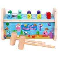 Los niños del bebé de Madera Juguetes llamar a hámster juego pulpo marino juguete instrumento Musical