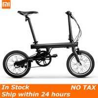 100% Original Xiaomi QiCYCLE-EF1 eléctrica plegable bicicleta Bluetooth inteligente bicicleta eléctrica 16 pulgadas Mini bicicleta APP No cualquier impuestos