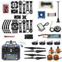 F14892-B DIY Drone RC Drone con giroscopio de X4M360L Kit de Marco con GPS APM 2,8 RX TX batería y adaptador de cargador RTF 4 eje aviones de juguete