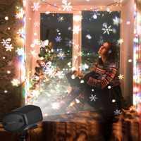 Nevadas, LED de Navidad Luz de proyector gran movimiento de copo de nieve de Navidad de Proyector láser IP65 impermeable al aire libre del paisaje de iluminación