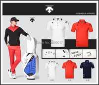 Hommes Sportswear manches courtes DESCENTE Golf T-shirt 3 couleurs Golf vêtements S-XXL au choix loisirs Golf chemise livraison gratuite