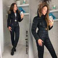 Chaqueta de invierno al aire libre de las mujeres al aire libre una pieza mujer cálido traje de esquí traje de mono de manga larga grande parka abrigo de invierno de las mujeres