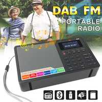 LCD Digital FM Radio DAB/DAB + Bluetooth 1,8 pulgadas pantalla TFT altavoz portátil Radio MP3 música despertador RDS casa regalo