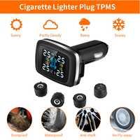 ZEEPIN C100 système de surveillance de la pression des pneus prise allume-cigare affichage de l'écran LCD TPMS 4 capteurs externes alarme automatique des pneus