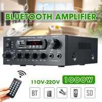 AMPLIFICADOR DE POTENCIA DE Audio de 1000W 220V 110V amplificadores de cine en casa Audio con soporte de Control remoto FM USB tarjeta SD bluetooth
