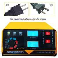 Cargador de batería de coche 12 V 24 V del automóvil Auto de la motocicleta de la batería Monitor en tiempo Real de nosotros de la UE de la batería de litio unidades de carga