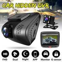 HD 1080 P HD Mini Smart Wifi coche DVR Dual lente trasera cámara de visión nocturna Dash Cam Auto registrador grabadora de vídeo videocámara
