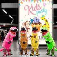 Inflable de dinosaurio Cosplay de dinosaurio Animal mono de fiesta de disfraces de Halloween vestido de lujo para los hombres y las mujeres