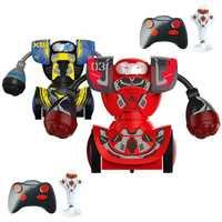 Pelea de boxeo lucha doble juego niños Robot inteligente de Control remoto de juguete RC batalla boxeo Robot de juguete para Año Nuevo regalo