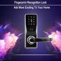 OULET cerradura de la puerta Digital seguro a casa sin llave inteligente huellas dactilares/tarjeta/Contraseña de bloqueo de pantalla táctil cerradura electrónica puerta inteligente cerraduras