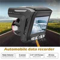 2 In1 1080 p globalmente universales grabadora de tráfico velocidad móvil Anti Radar 3 Mode City 1 carretera coche láser DVR Radar detectores