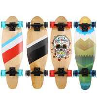 Nuevos niños y niñas caída mucho tiempo Junta patín completo de madera de arce Cruiser Skateboard