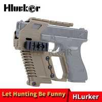 Pistola de caza Airsoft Glock 17 18 19 accesorios/Revista/funda/dispositivo de carga/montaje de alcance de riel Picatinny para láser de punto rojo