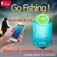 APP del Bluetooth del teléfono inteligente buscador de peces inalámbrico pescado Visual pesca envío de la gota
