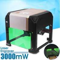 3000 mW CNC grabador láser DIY marca de logotipo de grabado láser de la máquina de talla de Casa uso para Windows XP/7 /8/10 para MAC OS