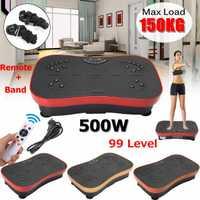 150 KG/330lb exercice Fitness mince Vibration Machine formateur Plate-forme corps Shaper avec des bandes de résistance