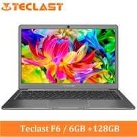Teclast F6 portátil de 13,3 pulgadas IPS Windows 10 Intel Apollo Lake N3450 Quad Core 1,1 GHz 6GB RAM SSD de 128 GB HDMI portátil de 5000 mAh