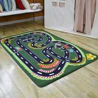 Bebé de 100x150 cm lavable a máquina los niños alfombras para sala de planeta. Sistema Solar niños alfombra niños decoración, juguetes de gimnasio
