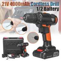 21 V 4000 mAh destornillador eléctrico Taladro Inalámbrico Mini inalámbrico controlador de potencia 18 + 1 garras 1/2 batería Li-ion recargable