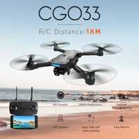 CG033 Brushless FPV RC Quadcopter con 1080 p HD WIFI Cámara GPS plegable Drone RTF