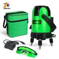 TUNGFULL láser verde Nivel 5 línea 360 nivelación nivel láser de precisión de la máquina de haz de luz verde al aire libre Modo de instrumentos de medición