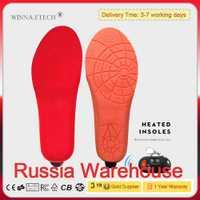 [Russie Entrepôt] New USB Chauffage Électrique Semelles Hiver Chaud Thermique Chauffée Semelle Sport En Plein Air Tapis de Chaussures Randonnée Ski utiliser