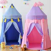 0-6 años de edad tienda de campaña para niños casa princesa niñas exterior interior Bebé Castillo Adorable niños regalos plegables juguete de tiendas de campaña