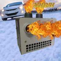 12 V 24 V de coche portátil de refrigeración de calefacción calentador de ventilador Defroster Demister con 8 agujeros calefacción de aire caliente parabrisas descongelador