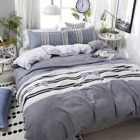 De alta calidad cómodo estilo breve familia ropa de cama forros funda nórdica hoja de cama fundas de almohada 4 unids/set 51
