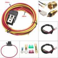 Pesado ventilador eléctrico de arnés de cableado termostato doble de Kit Sensor impermeable arnés de cableado Disyuntor de sobrecarga