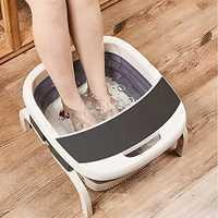 Enchufe de la UE plegable Spa masajeador con calefacción eléctrica de onda pie relajar masajeador terapia calentador SPA masaje de pies herramientas