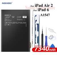 Batterie Nohon pour iPad 6 Air 2 A1547 7340 mAh A1566 A1567 li-polymère tablette Bateria + outils gratuits pour Apple iPad Air2 iPad6 batterie