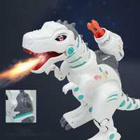Los niños eléctrico inteligente de Control remoto de juguete recargable Spray de Tiranosaurio Rex de lanzamiento de cohetes de espacio dinosaurio de juguete