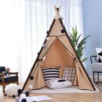 Tienda de campaña para niños portátil plegable casa de juegos en interiores tiendas de campaña indias niños al aire libre bebé Castillo jardín de infantes triángulo niños regalo