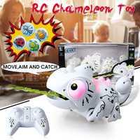 Electrónicos de Control remoto Robot camaleón lindo interactivo mascota Robot de juguete juguetes para niños regalo de cumpleaños