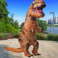 220 cm divertido inflable dinosaurio vestido para Halloween Cosplay Halloween fiesta de disfraces de fantasía para hombres y mujeres
