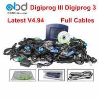Conjunto completo Digiprog3 Digiprog 3 V4.94 FTDI odómetro herramienta de corrección Digiprog Iii Digiprogiii Obd2 kilometraje programador Cables completos