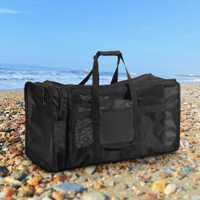 Impermeable al aire libre de la piscina bolsas 100L de malla bolsa de buceo bolsa para buceo snorkel playa agua del equipo de deportes