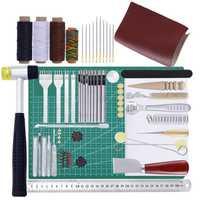 DIY herramientas de cuero hecho a mano de cuero de herramientas de mano cortar arte traje mano costuras cortador