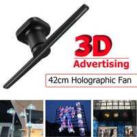 42 cm/16.54 Inch 0 w-15 w 3D hologramme à œil nu publicité projecteur holographique lecteur affichage ventilateur lumière annonce lumières US EU