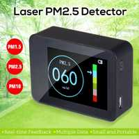 En tiempo Real el Sensor láser de PM2.5 Detector Digital de pantalla portátil precisa Monitor de calidad de aire comprobador de batería recargable de nuevo