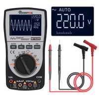 Actualizado MUSTOOL MT8206 2 en 1 Digital inteligente osciloscopio multímetro analógico Bar gráfico 200 k de alta-velocidad un /D de muestreo