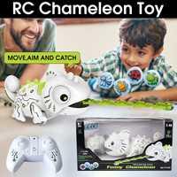 Control remoto inalámbrico Robot camaleón interactivo Pet 2,4G Robot Camaleón de juguete mascota electrónica regalo de cumpleaños