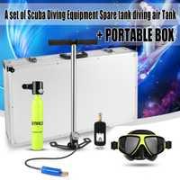 Buceo oxígeno tanques de aire de bomba de aluminio caja de buceo bajo el agua dispositivo de respiración de buceo regulador del cilindro