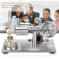 Aire caliente Stirling modelo de juguete de Motor educativo generador de electricidad Física Ciencia experimento juguete para niños adultos