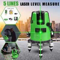 3D 5 líneas 6 puntos de nivel láser medida automático de nivelación 360 Vertical Horizontal verde láser de líneas en cruz, herramientas de diagnóstico