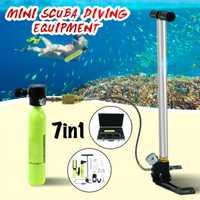Mini buceo oxígeno tanques de aire, equipos de buceo respirar bajo el agua regulador del cilindro de accesorios