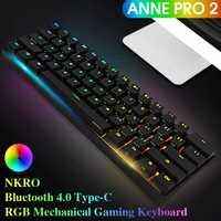 [Kailh caja interruptor] Obins Anne Pro 2 60% NKRO bluetooth 4,0 tipo-C RGB Teclado mecánico del juego de teclado inalámbrico