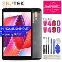 Srjtek para LG G Pad 8,0 V480 V490 pantalla LCD de matriz digitalizador de pantalla táctil del Sensor del Panel de vidrio Tablet Assembly Replacement